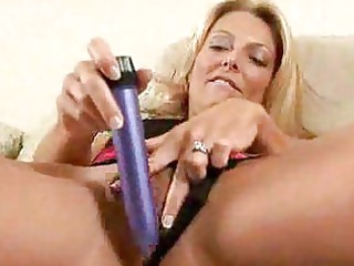 golden-haired mother i fills her wet crack with a
