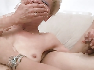 non-professional older mommy with youthful gent
