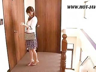 asian wife copulates the repair boy