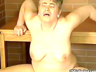 chubby aged housewife riding large pecker