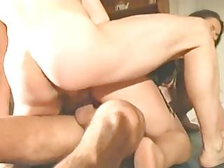 hot italian mature enjoys schlongs on a table