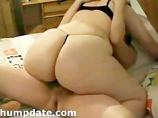 white wife with big booty rides on hubbys wang