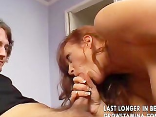 aged wild redhead goes all the way
