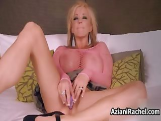 busty blonde d like to fuck acquires her twat
