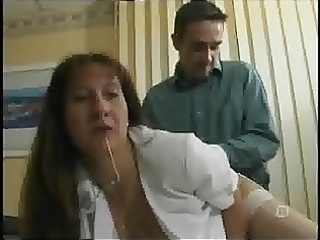 mature french secretary in white nylons &;