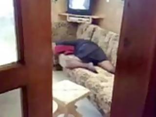 spying my mum home alone masturbating on ottoman