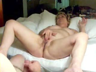 pervert aged wife masturbating in front of hubby