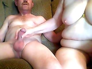 older man and grandma having sex in front webcam