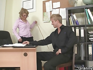 sexy office sex with older doxy