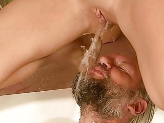 grandpa and cutie pissing and fucking