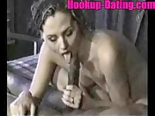 Mature brunette sweet cuckold interracial fuck