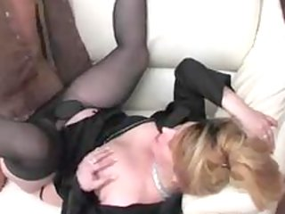hot russian granny lady boss and employee mature