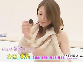 subtitled stripping japan milfs change into