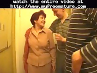 3 lads and granny part 1 aged older porn granny