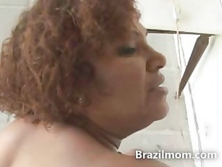 brazilian a-hole milf fucked hard by a large dark