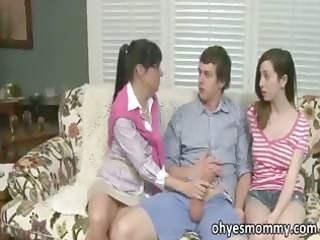 hot breasty older stepmom has sex with her