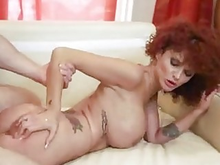 hairy redhead d like to fuck acquires her bald