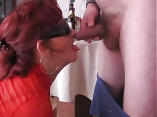 aged doxy drinking and engulfing cock!