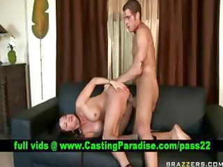 busty brunette hair mother i gets drilled and