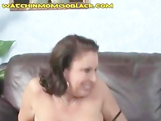 brunette hair mama trades oral-job with darksome