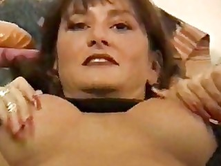 Lusty MILF babe nailed in sexy black lingerie