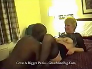 older honey has motel sex with darksome lad