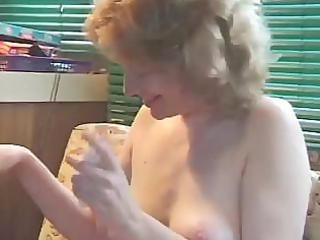 older golden-haired plays with herself previous