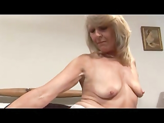mother i in white lace and stockings fingers