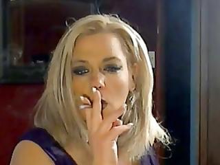 hot breasty older cougar smokin solo
