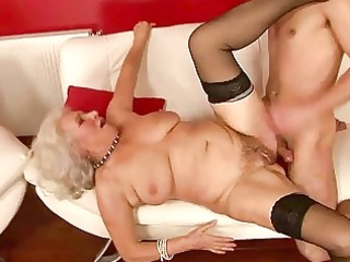 lusty breasty granny fucking with a guy