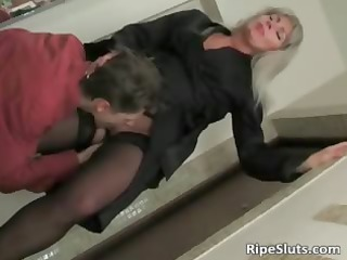 golden-haired mama clothed in hot lingerie part2