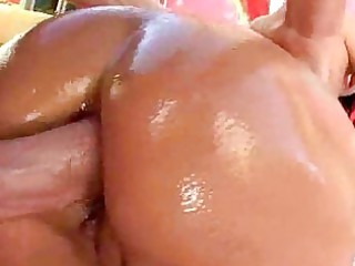 oiled milf booties are primed for anal xxx