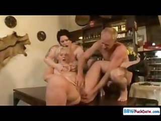 Group sex bonanza for some fat chicks, yummy