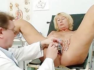 hawt breasty granny mangos and twat gyno checkup