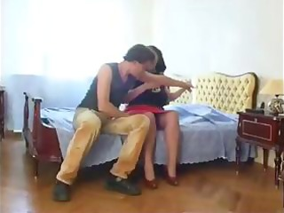 mature russian obese brunette hair seduces and