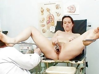 unpretty aged wife at pervy gyno doctorhttpww