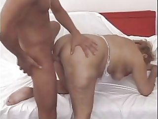 lewd older mom acquires juvenile guy to fill her