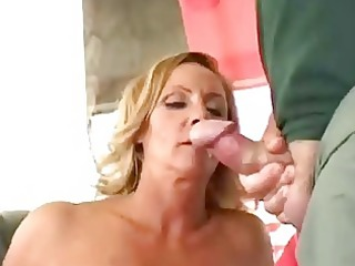 horny aged wife receive double facial
