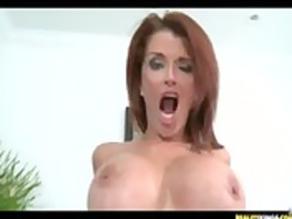hot redhead milf joslyn gets gangbanged hard from