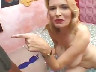 busty aged golden-haired receives screwed hard