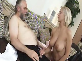aged golden-haired mandy dee bounces her big love