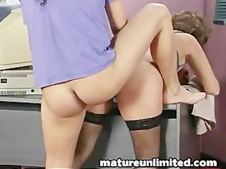 office oral job milf