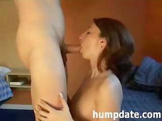 pleasant milf deepthroats penis and gets defaced