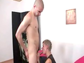 aged sexy wench blows and rides legal age