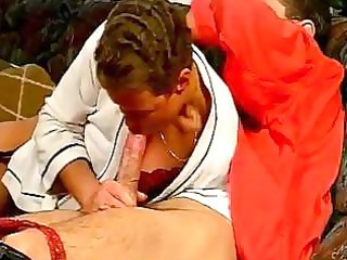 aged lady likes engulfing and fucking a younger