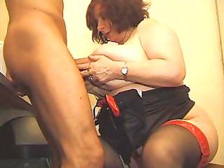 large breasty granny bonks