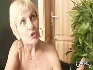 blond granny takes on cocks