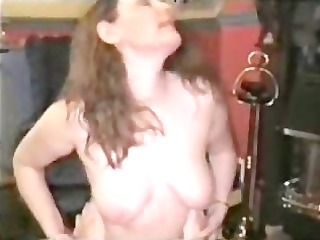 wife bent over and drilled