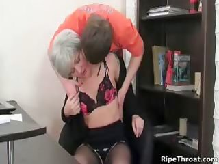excited milf gives oral-job to slutty