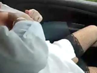 aged masturbete in car for voyeurs